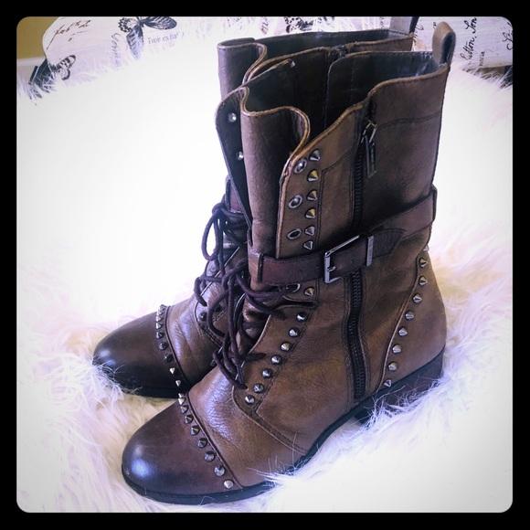 Gianni Bini Shoes - Brown Gianni Bini studded boots